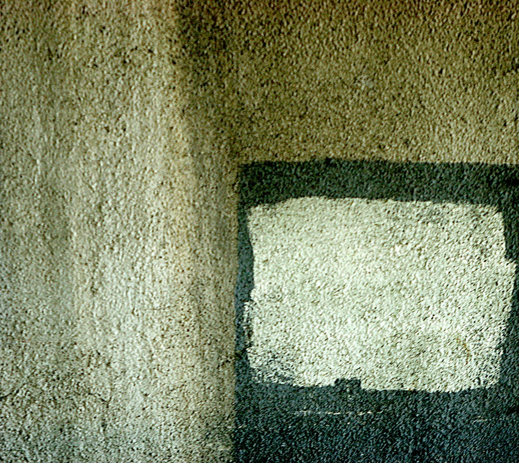 concrete abstract #16 (someone left the television on)